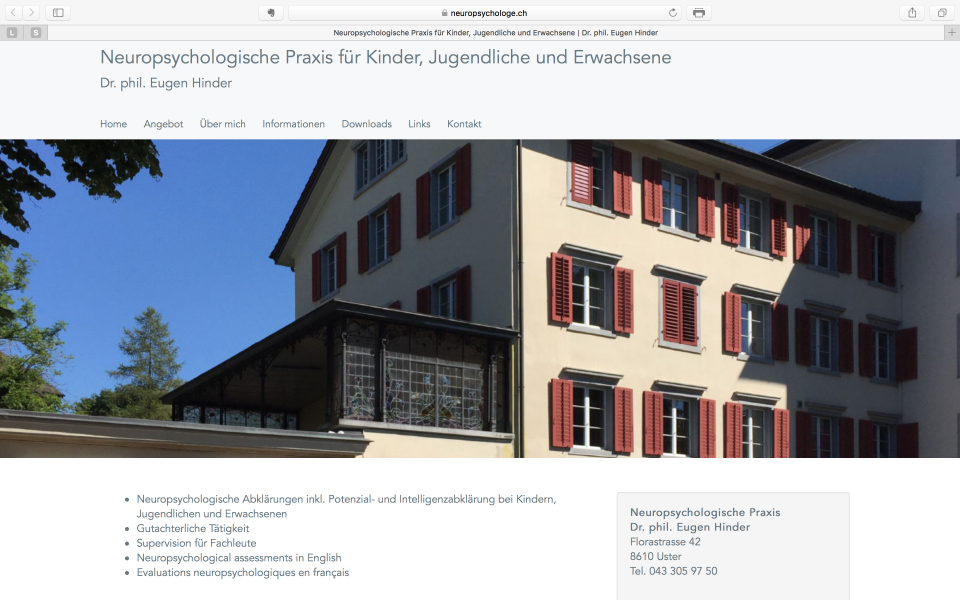 Re-Design neuropsychologe.ch online!