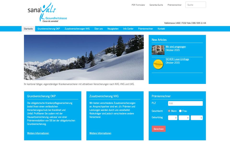 Screenshot sanavals.ch
