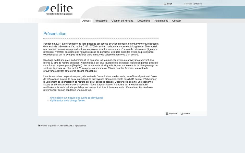 Screenshot librepassage.elitefondation.ch