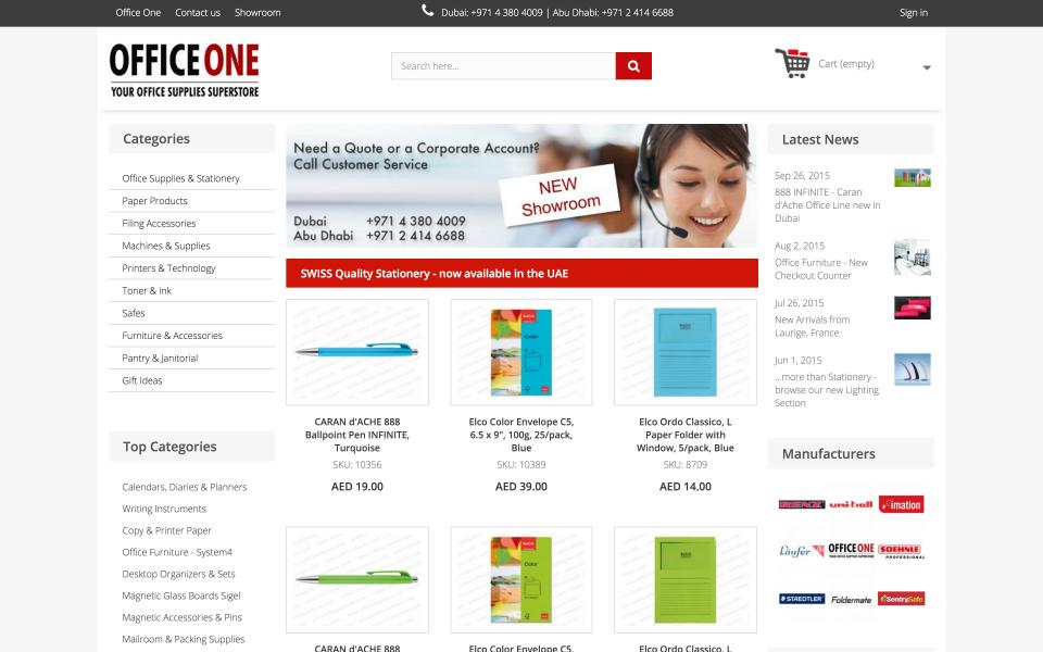 Screenshot officeoneuae.com