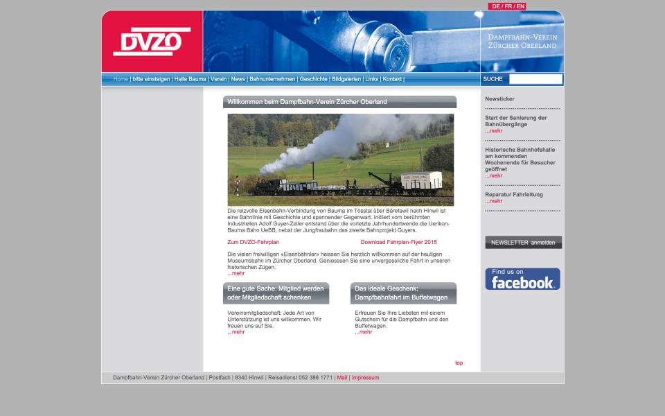 Screenshot www.dvzo.ch