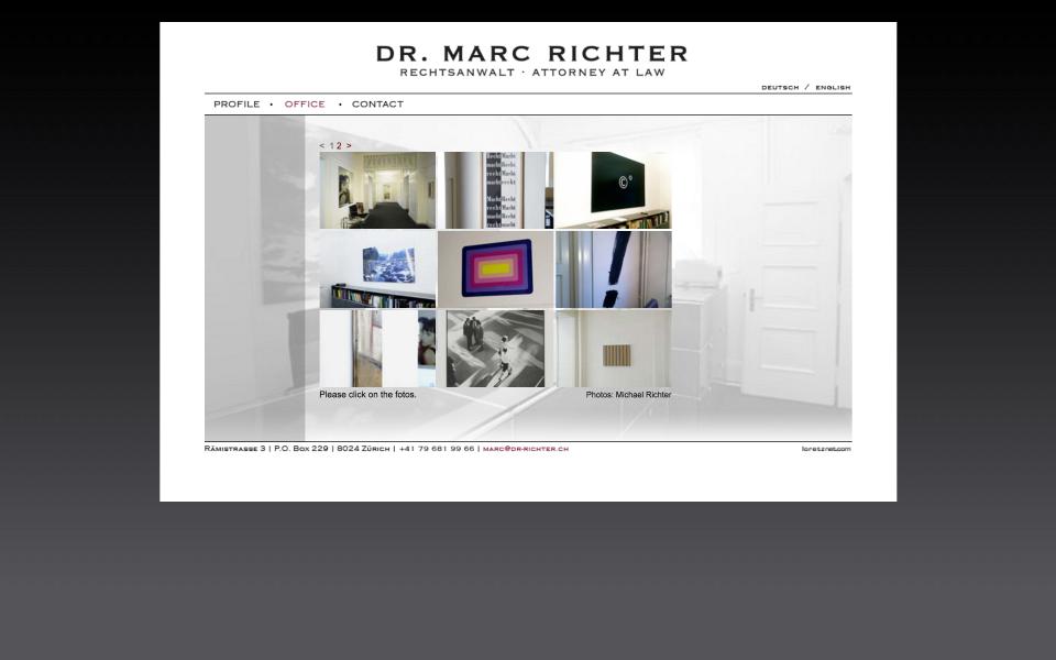 Screenshot www.dr-richter.ch